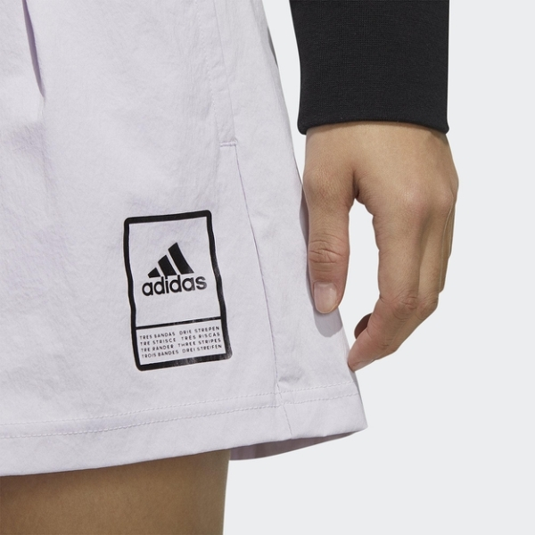 ADIDAS STYLE SHORTS 女裝 短褲 慢跑 訓練 側邊口袋 張鈞甯 淡紫 FT2909