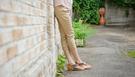 [mamae] 日本S.Y.S 孕婦托腹彈力七分卡其直筒長褲 孕婦裝 彈力托腹長褲 孕婦褲