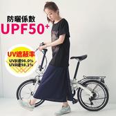 LOXIN 涼感透氣機能防曬裙 遮陽裙 台灣製造 抗UV 吸濕速乾 多功能圍裙 防曬萬用裙【SJ0262】