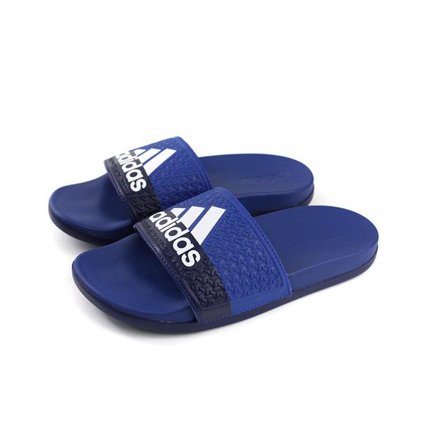 adidas ADILETTE COMFORT K 拖鞋 藍色 童鞋 B43529 no592