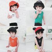 男童女童休閒背心裝新款兒童打底衫1-234歲寶寶無袖上衣潮艾美時尚衣櫥