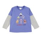 【愛的世界】純棉圓領薄長袖上衣/6~8歲-台灣製- - ---秋冬上著