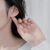S925銀耳釘女會動的設計感小眾星星耳墜個性簡約百搭耳飾非純銀