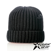 【PolarStar】中性 素色保暖帽『黑』P18602 素色帽 針織帽 毛帽 毛線帽 帽子
