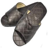 (e鞋院)菱格紋舒適室內拖鞋1雙(咖啡)咖27cm