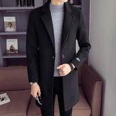 秋冬季男士風衣毛呢大衣男中長款韓版潮流修身呢子外套男 生活故事