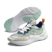 Puma Rise 女 白 湖水綠 運動鞋 慢跑 休閒 舒適感 抓地力 輕質PU中底 健身 運動鞋 37177701