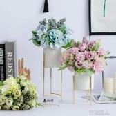 北歐客廳茶幾假花藝擺件餐桌仿真干花束擺設裝飾家居創意塑料 布衣潮人