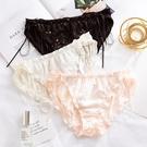 促銷 繁星絲帶蕾絲內褲女性感中腰三角內褲日系大碼無痕內褲純棉