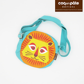 【虎兒寶】coqenpate 法國有機棉無毒環保布包-小圓圓斜背包 - 獅子