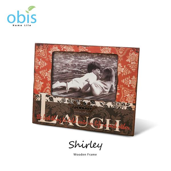 AA012-Shirley微笑時刻復古風木質相框/預購(OBS/10MX23375VQ2木相框(Laugh))【DD House】