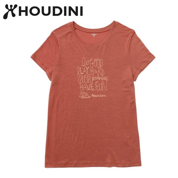 瑞典【Houdini】W`s Tree Message Tee 沙漠岩石紅