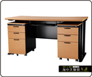 {{ 海中天休閒傢俱廣場 }} C-22 摩登時尚 辦公桌系列 183-40 CD主管桌-150cm(木紋檯面)