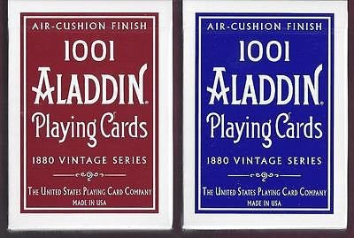 【USPCC 撲克】阿拉丁ALADDIN(1001) 1880 Dome Back AIR CUSHION 藍色/紅色