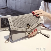 小包包女鉚釘條手包韓版個性時尚百搭氣質手拿包女 交換禮物
