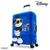 箱套 DESENO DISNEY 迪士尼 米奇MICKEY 彈性箱套 行李箱套 行李保護套 M號 微笑米奇 B1129-0005