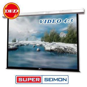 美國SUPER SEIMON 105 * 140 180吋 VIDEO(4 : 3) M-360 中型電動式布幕 採用軸心式馬達
