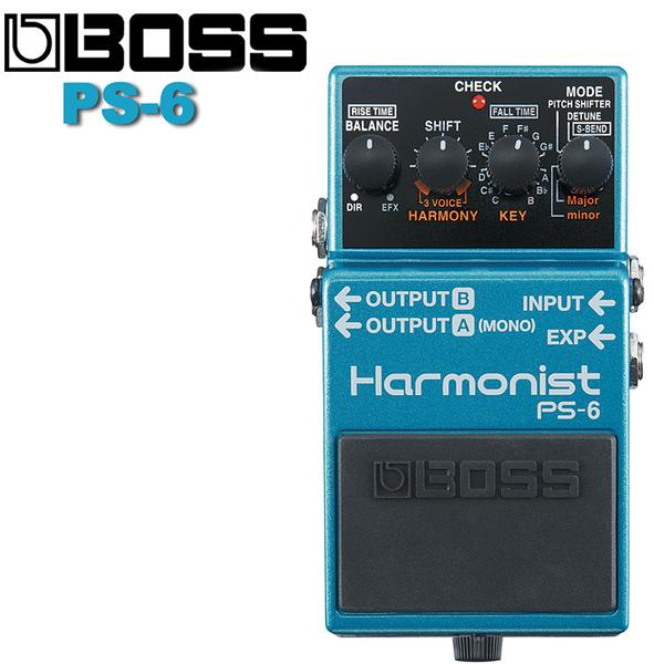 【非凡樂器】BOSS PS-6 Harmonist 效果器/結合四種效果的智慧型移調單踏板效果器