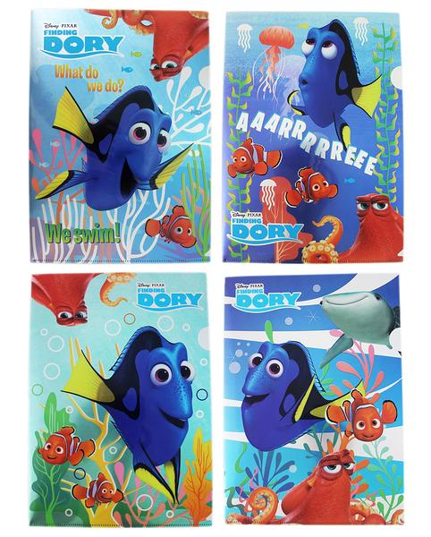 【卡漫城】 海底總動員 L 資料夾 4入組 ㊣版 Finding Dory 多莉 Nemo 尼莫 文件夾 檔案夾 台灣製