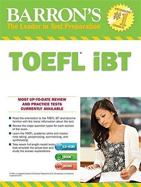 (二手書)Barron's TOEFL IBT Internet-Based Test 15th Edition with Two MP3..