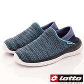 【LOTTO】EASYWEAR飛織輕走鞋-LT8AWX6006-時尚藍-女段-(現)
