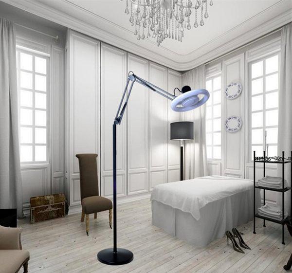 立式美容紋繡燈 LED超亮冷暖光燈睫毛 美甲無影燈 落地環形手術燈 享購