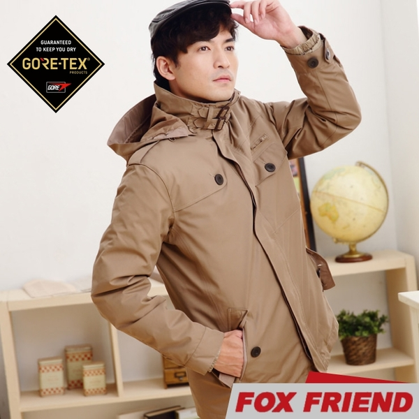 【FOX FRIEND 男 GTX兩件式羽絨外套《深卡》】1105/保暖羽絨外套/防風外套/防水大衣