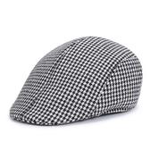 貝雷帽-英倫復古千鳥格紋時尚男女鴨舌帽6色71k113【巴黎精品】