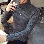 針織上衣 毛衣男2021春季男士加厚秋裝上衣服修身韓版潮流打底針織衫【快速出貨八折鉅惠】