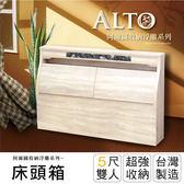IHouse-阿爾圖 收納浮雕床頭箱-雙人5尺