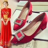 618好康又一發婚鞋高跟鞋粗跟中式新娘鞋