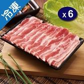 黑豬五花烤肉片500G/盒X6【愛買冷凍】