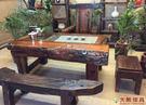 【大熊傢俱】老船木 茶几 茶桌 實木桌 茶台 原木桌 餐桌 泡茶桌 主人椅 船木家具 休閒組椅