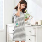 睡裙純棉加肥加大碼女睡衣200斤寬鬆孕婦連身裙子 夏洛特