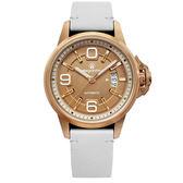 elegantsis--JT55A 復古潮流機械腕錶/玫瑰金 白