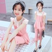 女童夏裝兩件套2020新款兒童短袖夏款運動女孩休閒衣服韓版潮套裝 依凡卡時尚