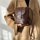 新款高級感潮流女包時尚菱格休閑包蓋式單肩斜挎百搭水桶包