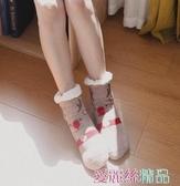 聖誕節禮服珊瑚絨襪子女加絨加厚可愛卡通秋冬居家睡眠防滑毛巾襪保暖聖誕襪 春季上新