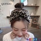 針織髮帶 氣質豹紋束髮帶女綁髮韓國網紅外出頭箍針織髮箍簡約洗臉頭飾秋冬 寶貝計畫 618狂歡