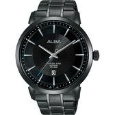 ALBA雅柏 爵士時尚手錶-黑/44mm VJ42-X237SD(AS9E87X1)