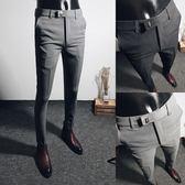 西裝褲西褲男士九分西服褲商務休閒小腳百搭西裝褲子男韓版修身9分潮流 貝芙莉