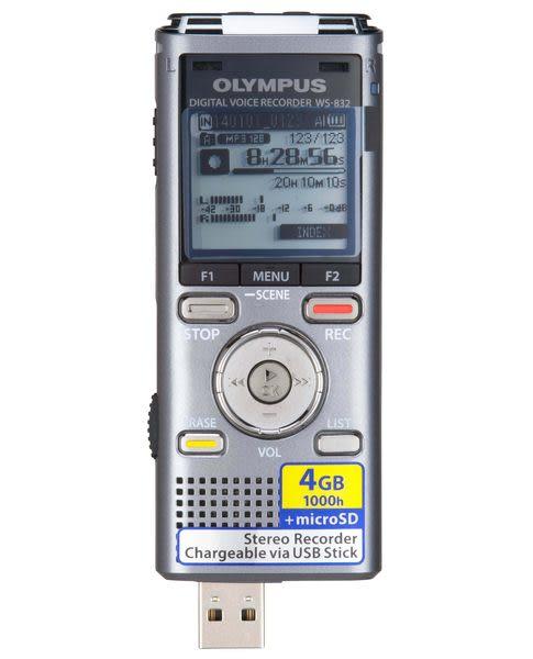 【OLYMPUS】奧林巴斯 DVR WS-832 內建4G記憶體
