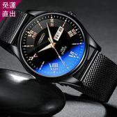 手錶 網紅抖音同款超火的手錶男學生韓版簡約潮流休閒機械防水夜光【快速出貨】