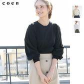 出清 泡泡袖罩衫 碎褶袖上衣 USA美國棉 現貨 免運費 日本品牌【coen】