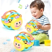 嬰兒玩具球0-1歲蜜蜂軟牙膠手搖鈴益智手抓球玩具  育心小館