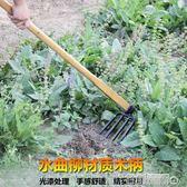 木柄鋤頭農用戶外翻地開山鏟子除草耙子鐵鍬農具種菜種花園藝工具 名創家居館DF