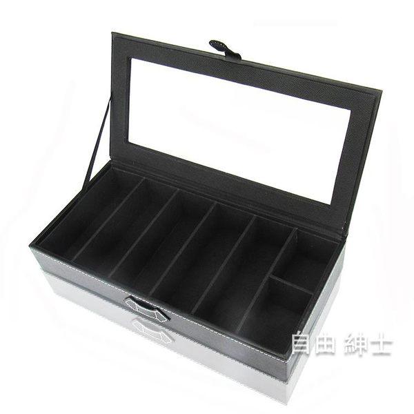 (百貨週年慶)高檔PU皮眼鏡收納盒子5格太陽鏡展示盒多格墨鏡盒女正韓wy