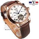 valentino coupeau 范倫鐵諾 羅馬 自動上鍊機械錶 不鏽鋼 防水手錶 男錶 日期顯示 皮帶錶 V61369玫咖
