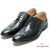 CUMAR 英倫紳士 真皮牛津紳士皮鞋-黑色