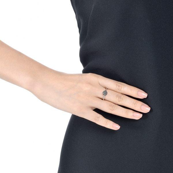 點睛品Fingers Play系列  時尚百搭18K金馬卡龍黑鑽石戒指
